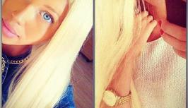 Hot blonde with blue eyes is on chat